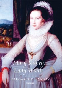 Lady Mary Wroth by Marcus Gheeraerts 1612, cover of Mary Sidney Lady Wroth by Margaret P. Hannay Ashgate 2010 (c)