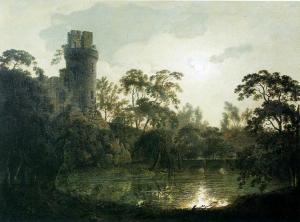 Joseph_Wright_of_Derby._Moonlight_with_a_Lake_and_Castellated_Tower.1787