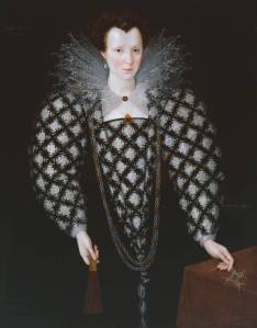 Portrait of Mary Rogers, Lady Harington 1592 by Marcus Gheeraerts II 1561 or 2-1636