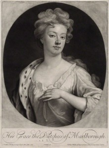 NPG D27373; Sarah Churchill (nÈe Jenyns (Jennings)), Duchess of Marlborough by and published by John Smith, after  Sir Godfrey Kneller, Bt