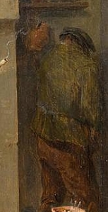 Teniers detail - man pissing