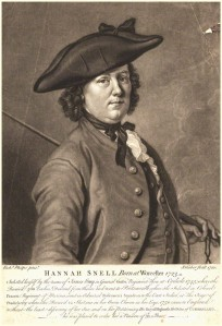 NPG D9172; Hannah Snell by John Faber Jr, after  Richard Phelps