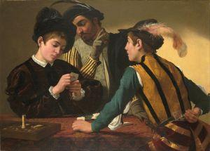 Caravaggio_(Michelangelo_Merisi)_-_The_Cardsharps_-_Google_Art_Project