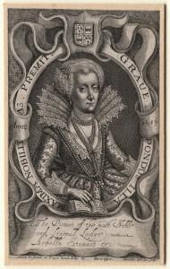 NPG D1318; Lady Arabella Stuart by John Whittakers Sr