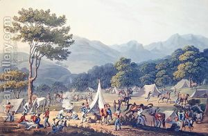Troops-Bivouacked-Near-Villa-Velha,-Engraved-By-C.-Turner,-19th-May-1811