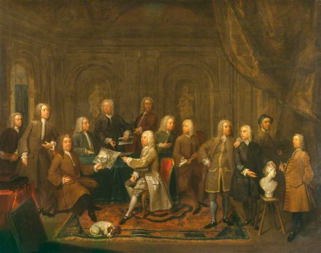 NPG 1384; 'A Conversation of Virtuosis...at the Kings Arms' by Gawen Hamilton