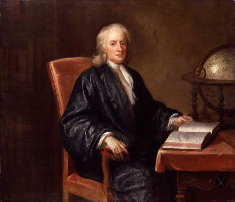 NPG 558; Sir Isaac Newton studio of Enoch Seeman