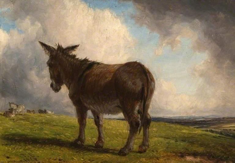 Baker, Thomas, 1809-1869; A Donkey in a Landscape