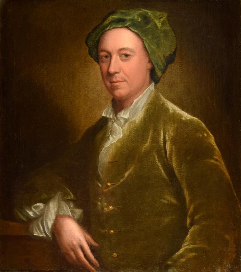 Portrait of a Gentleman in green velvet