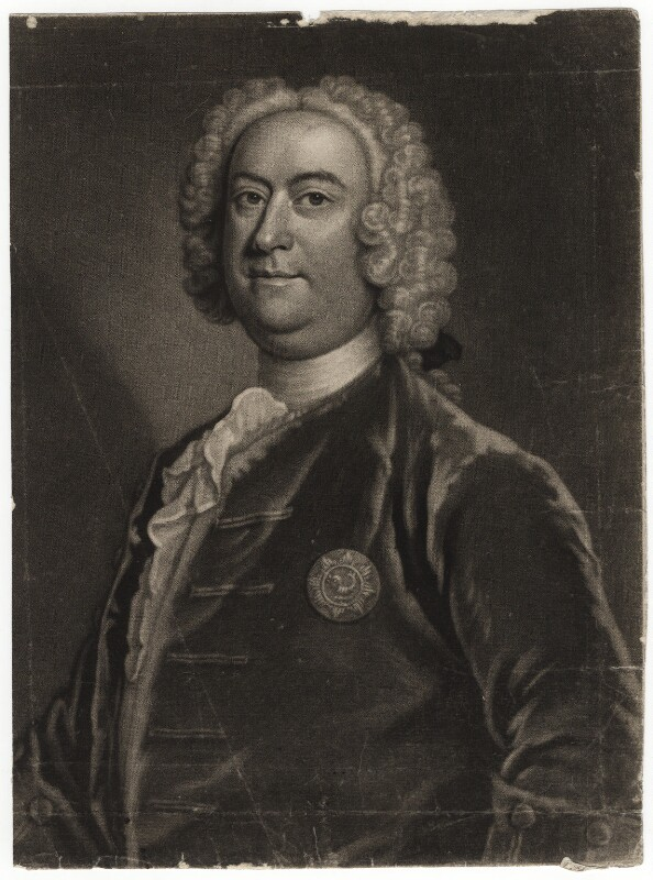 Taylor, Robert, (John Faber after) Portrait of Robert Gwynne 1747 NPG