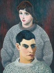 David and Barbara Carr c.1940 by Sir Cedric Morris, Bt 1889-1982