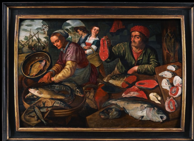 C16th Flemish School Fishmarket