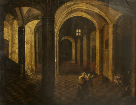 St Paul (?) delivered from Prison/Flight of St Peterby style of Hendrik van Steenwyck the elder(Steenwyck, Holland 1550 ¿ Frankfurt 1603)