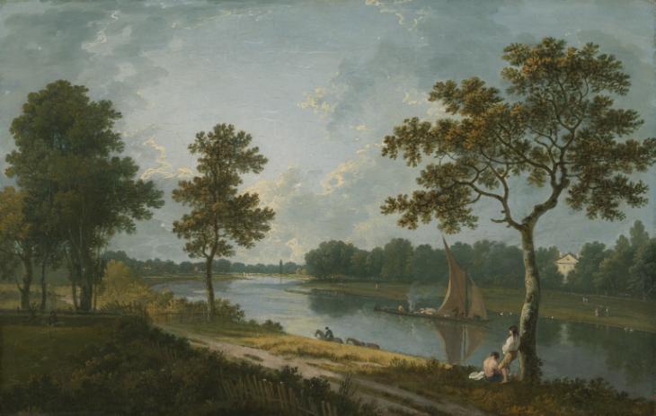 The Thames near Marble Hill, Twickenham c.1762 by Richard Wilson 1713-1782